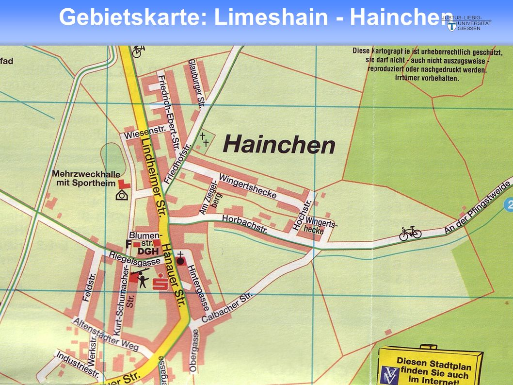 Gebietskarte: Limeshain - Hainchen