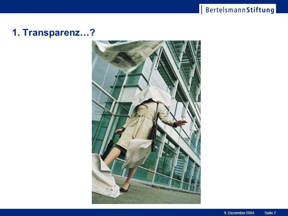 1. Transparenz… 9. Dezember 2004