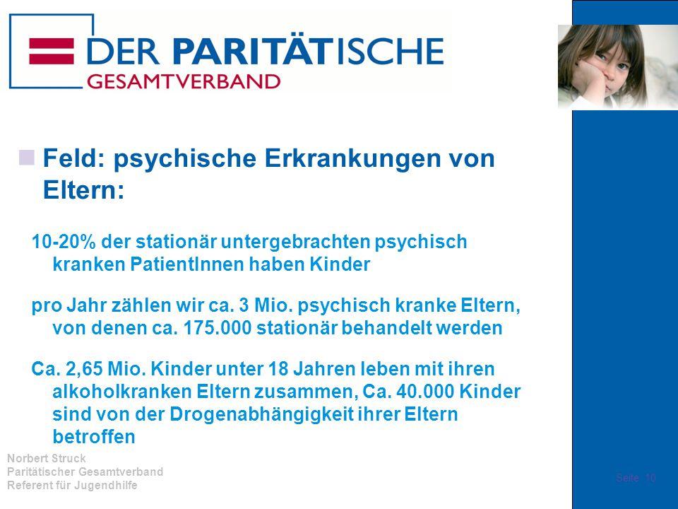 Feld: psychische Erkrankungen von Eltern: