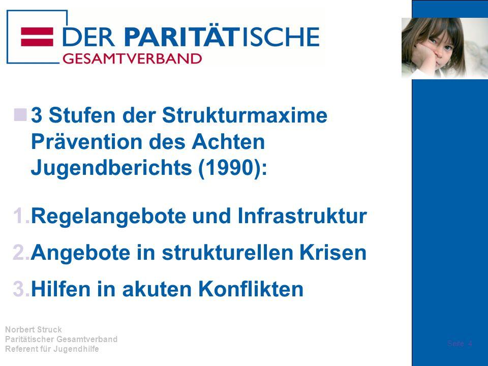 3 Stufen der Strukturmaxime Prävention des Achten Jugendberichts (1990):