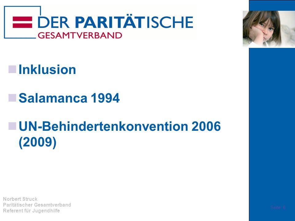 Inklusion Salamanca 1994 UN-Behindertenkonvention 2006 (2009)