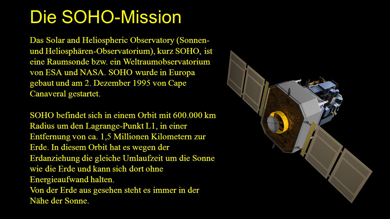 Die SOHO-Mission