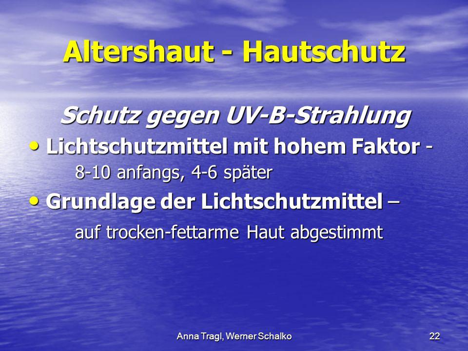Altershaut - Hautschutz