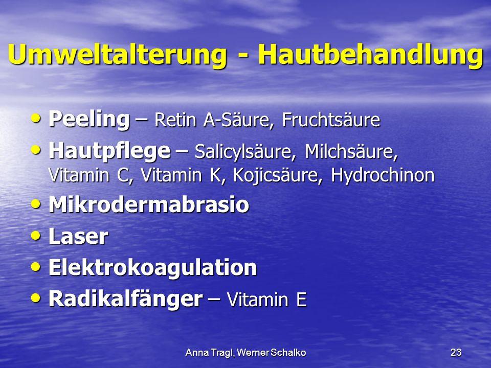 Umweltalterung - Hautbehandlung