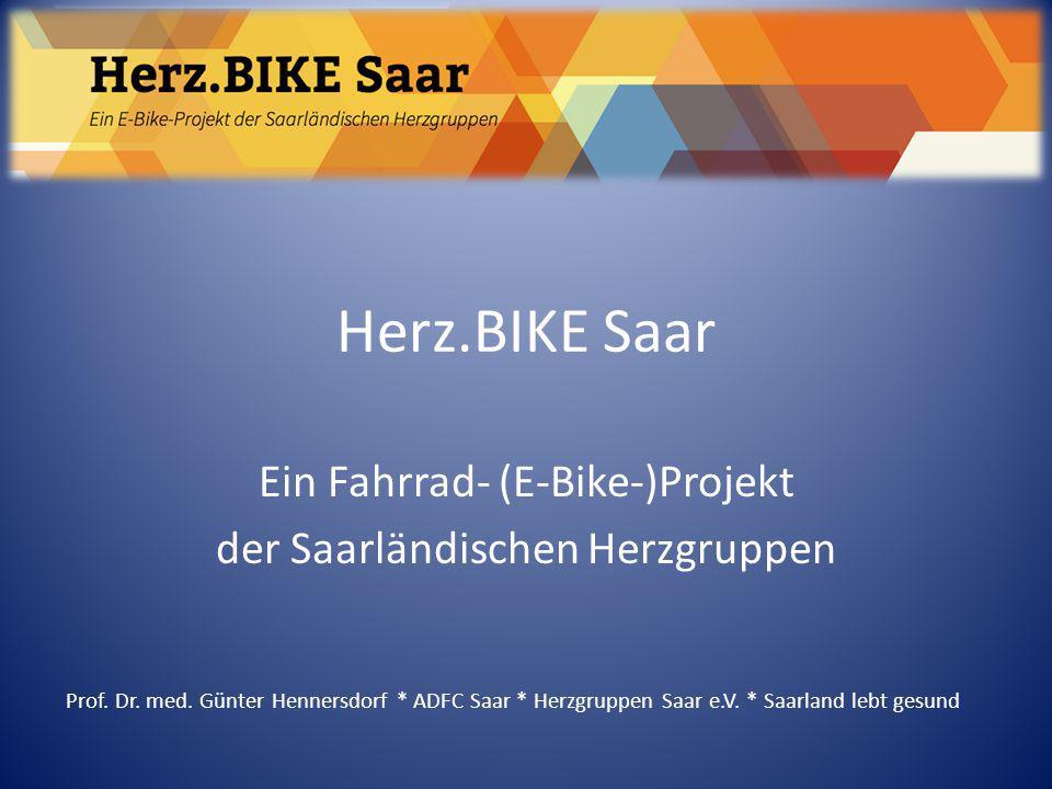 Ein Fahrrad- (E-Bike-)Projekt der Saarländischen Herzgruppen