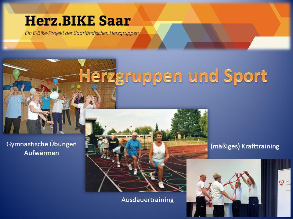 Herzgruppen und Sport Herz.BIKE Saar Gymnastische Übungen