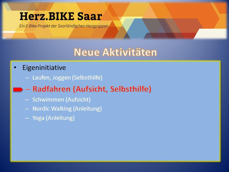 Herz.BIKE Saar Neue Aktivitäten Radfahren (Aufsicht, Selbsthilfe)