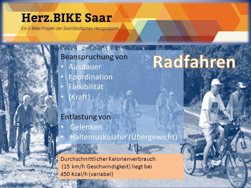 Radfahren Beanspruchung von Ausdauer Koordination Flexibilität (Kraft)