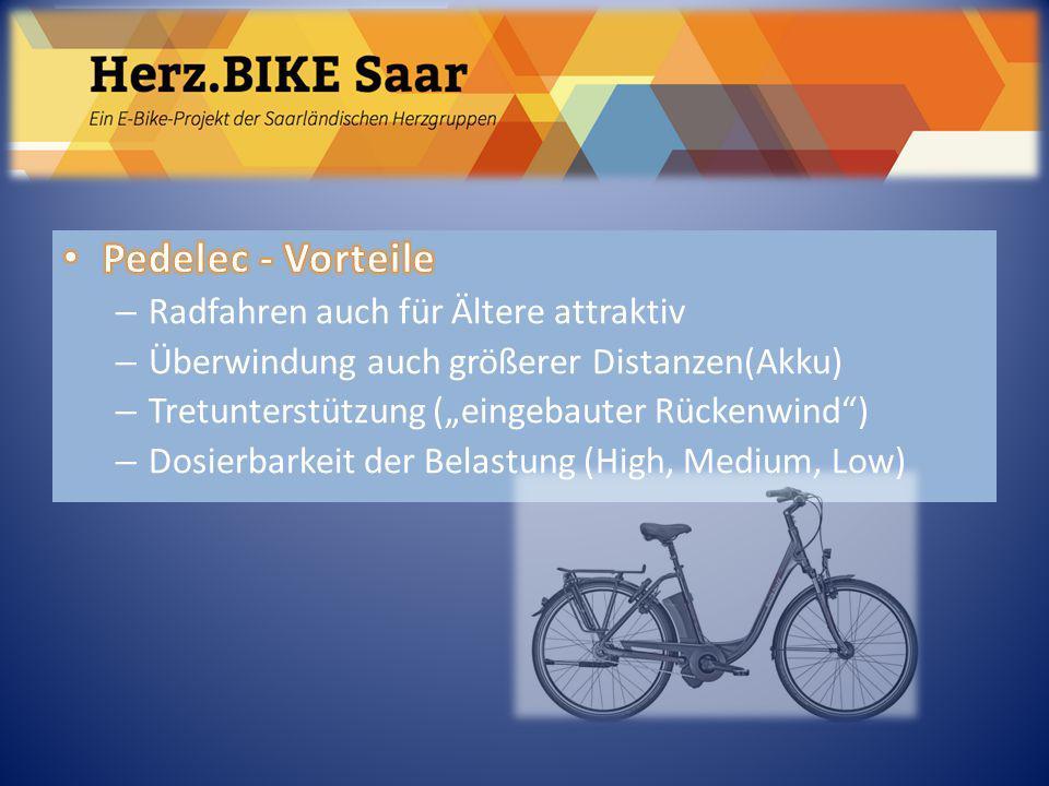 Herz.BIKE Saar Pedelec - Vorteile Radfahren auch für Ältere attraktiv