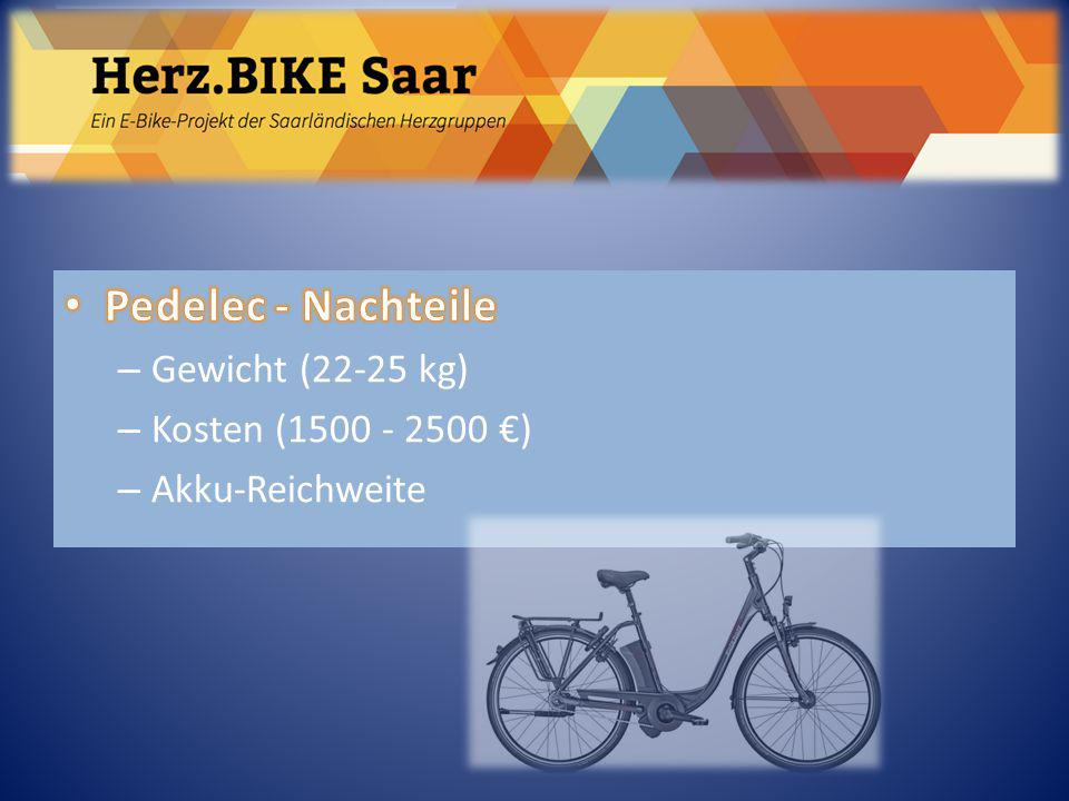 Herz.BIKE Saar Pedelec - Nachteile Gewicht (22-25 kg)