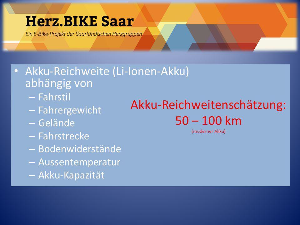 Akku-Reichweitenschätzung: