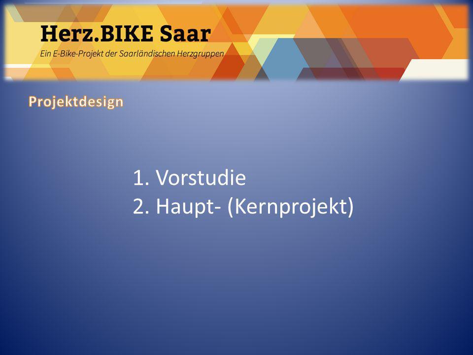 Herz.BIKE Saar Projektdesign 1. Vorstudie 2. Haupt- (Kernprojekt)