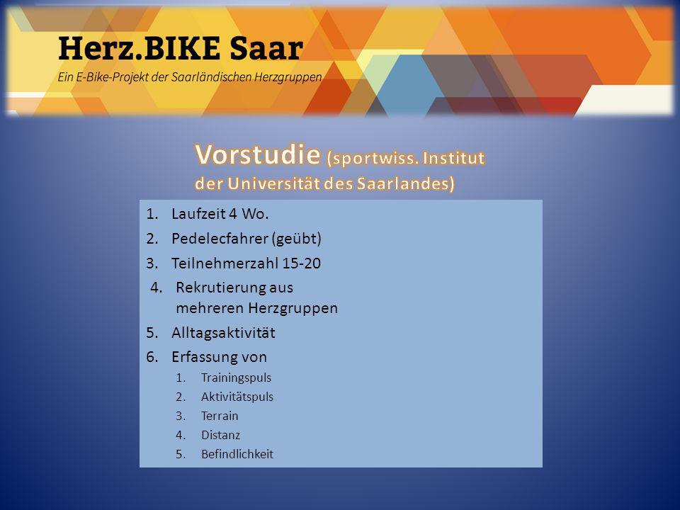 Herz.BIKE Saar Vorstudie (sportwiss. Institut