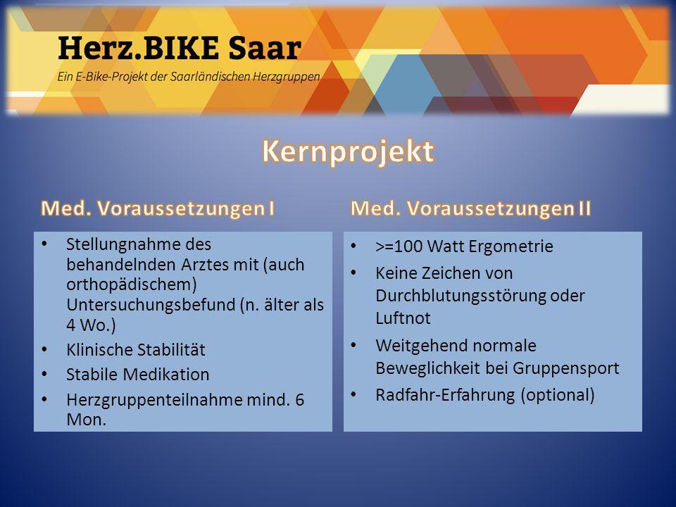 Herz.BIKE Saar Kernprojekt Med. Voraussetzungen I