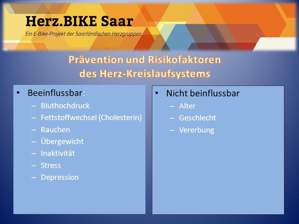 Prävention und Risikofaktoren des Herz-Kreislaufsystems