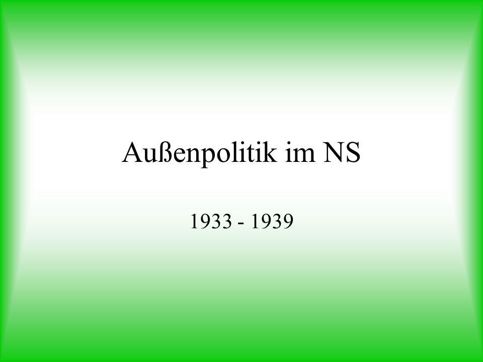 Außenpolitik im NS 1933 - 1939
