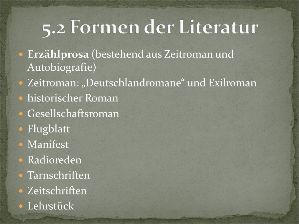 Erzählprosa (bestehend aus Zeitroman und Autobiografie)