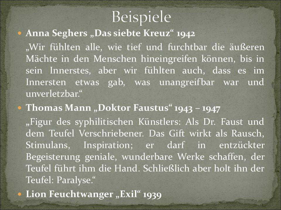 """Anna Seghers """"Das siebte Kreuz 1942"""