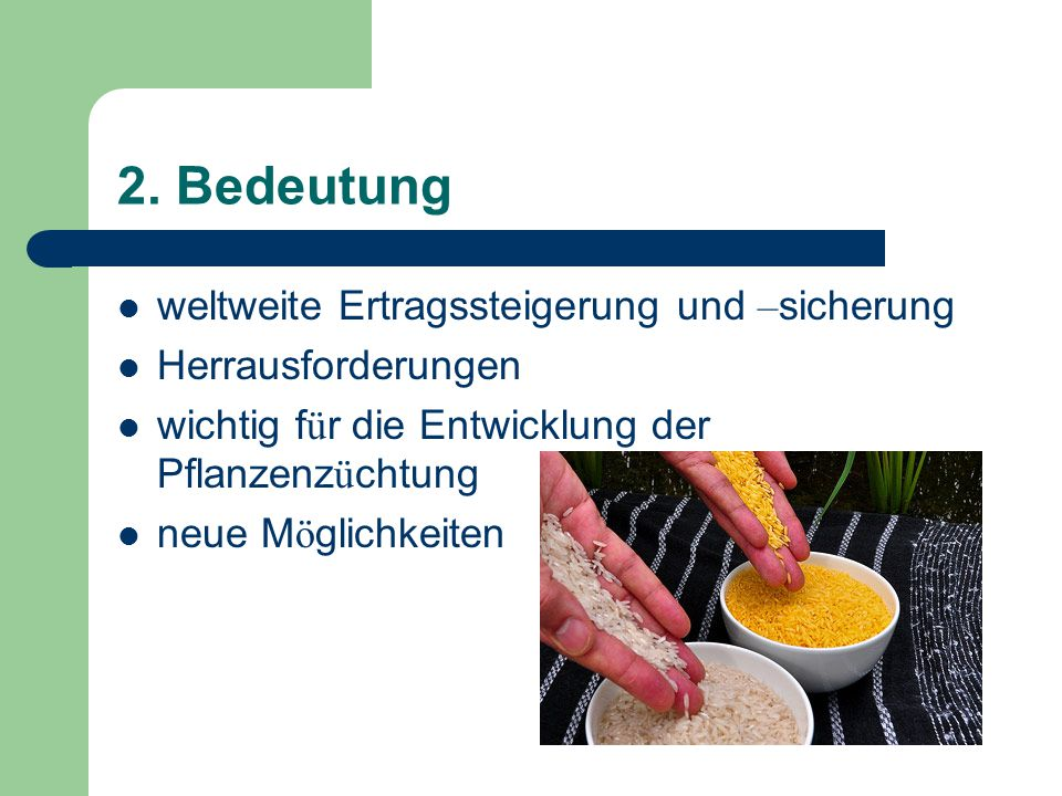2. Bedeutung weltweite Ertragssteigerung und –sicherung