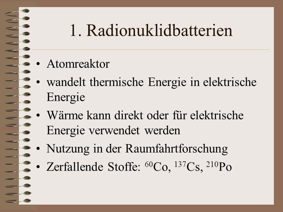 1. Radionuklidbatterien