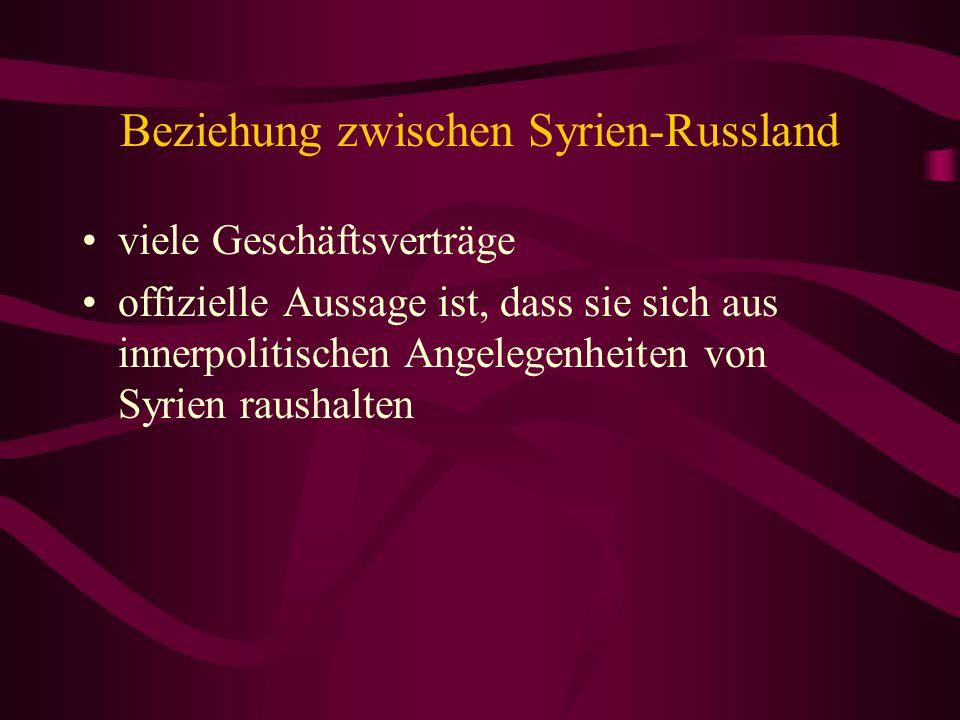 Beziehung zwischen Syrien-Russland