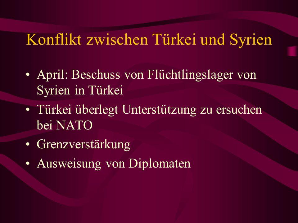 Konflikt zwischen Türkei und Syrien