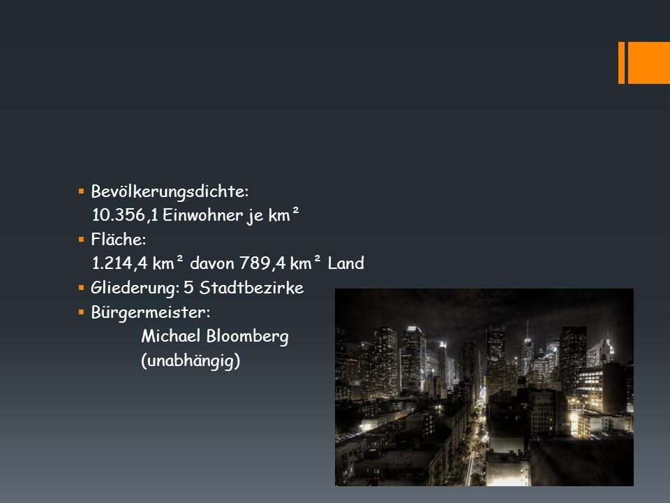 Bevölkerungsdichte: 10.356,1 Einwohner je km². Fläche: 1.214,4 km² davon 789,4 km² Land. Gliederung: 5 Stadtbezirke.