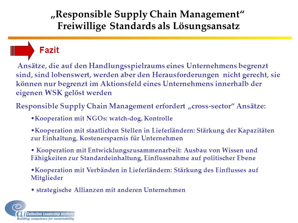"""Responsible Supply Chain Management"