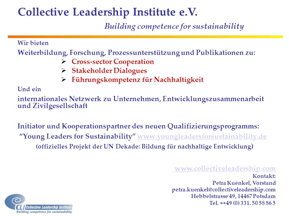Collective Leadership Institute e.V.