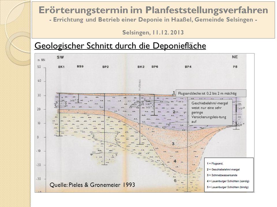 Erörterungstermin im Planfeststellungsverfahren - Errichtung und Betrieb einer Deponie in Haaßel, Gemeinde Selsingen -