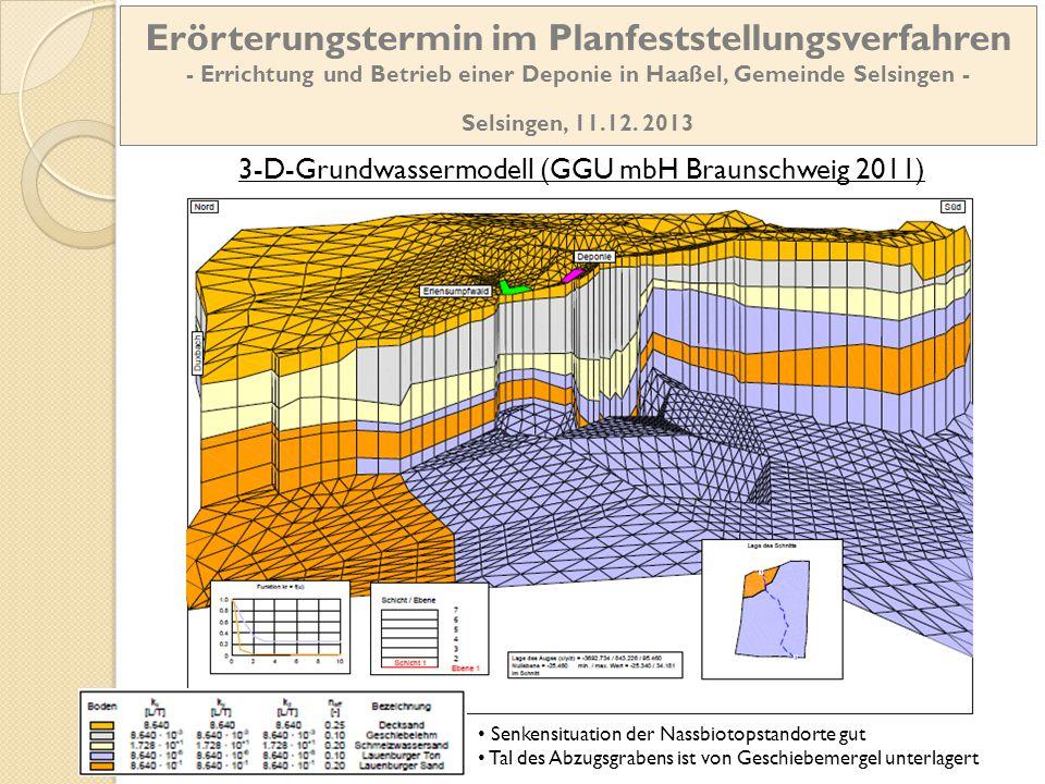 3-D-Grundwassermodell (GGU mbH Braunschweig 2011)