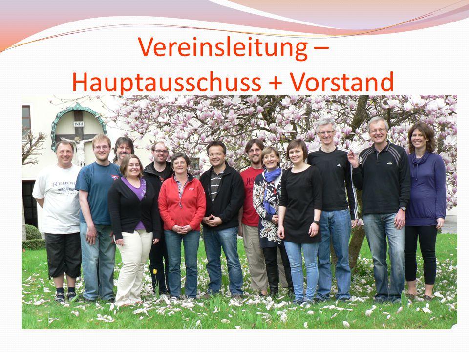 Vereinsleitung – Hauptausschuss + Vorstand