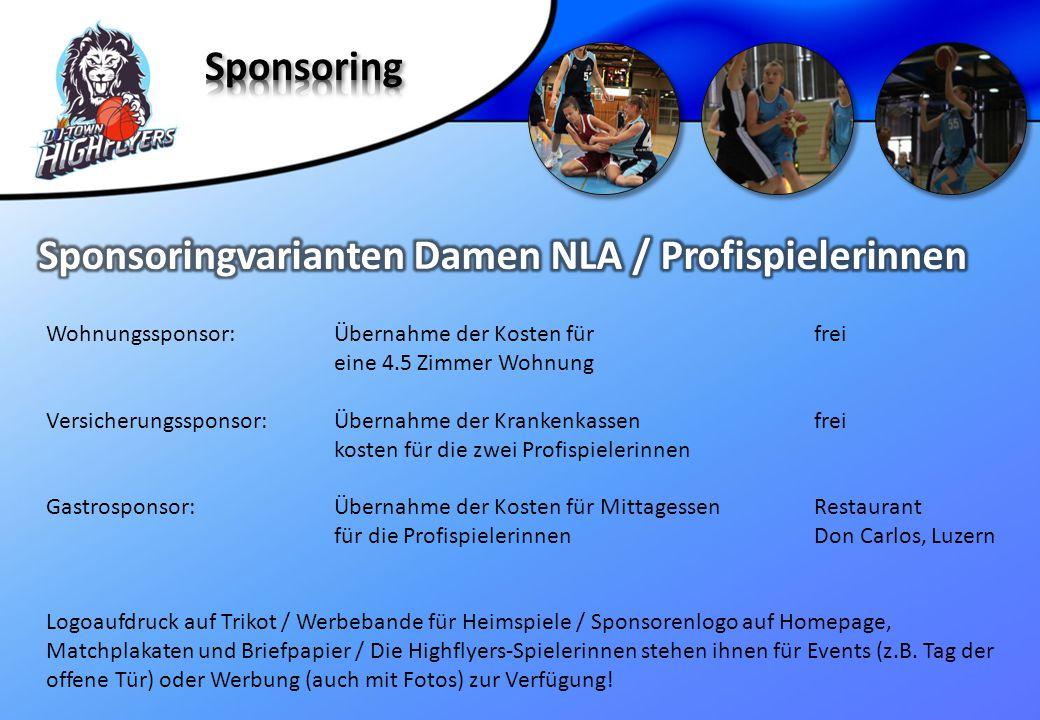 Sponsoringvarianten Damen NLA / Profispielerinnen