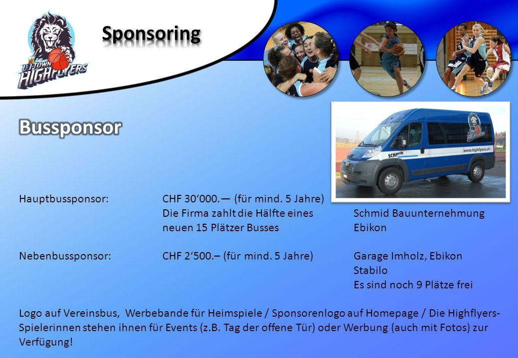 Sponsoring Bussponsor