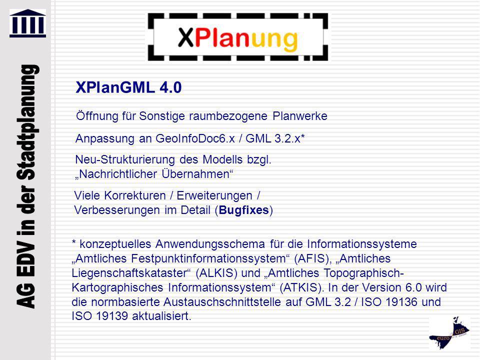 XPlanGML 4.0 Öffnung für Sonstige raumbezogene Planwerke