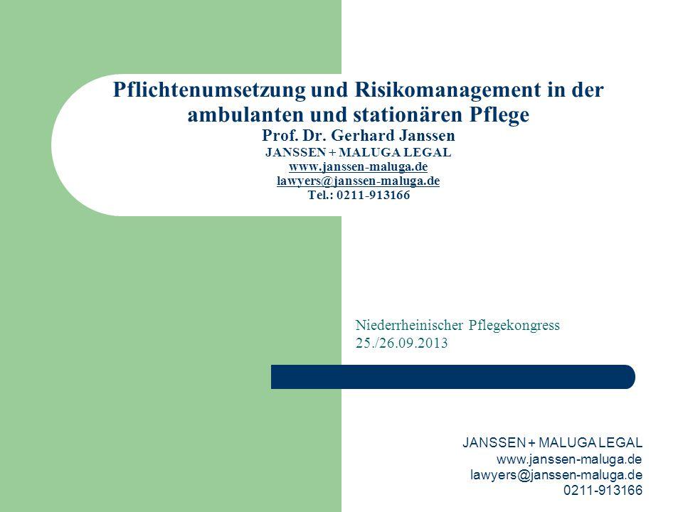 Niederrheinischer Pflegekongress 25./26.09.2013
