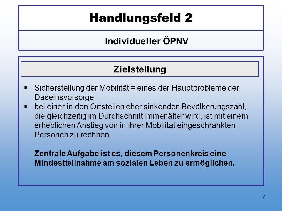 Handlungsfeld 2 Individueller ÖPNV Zielstellung