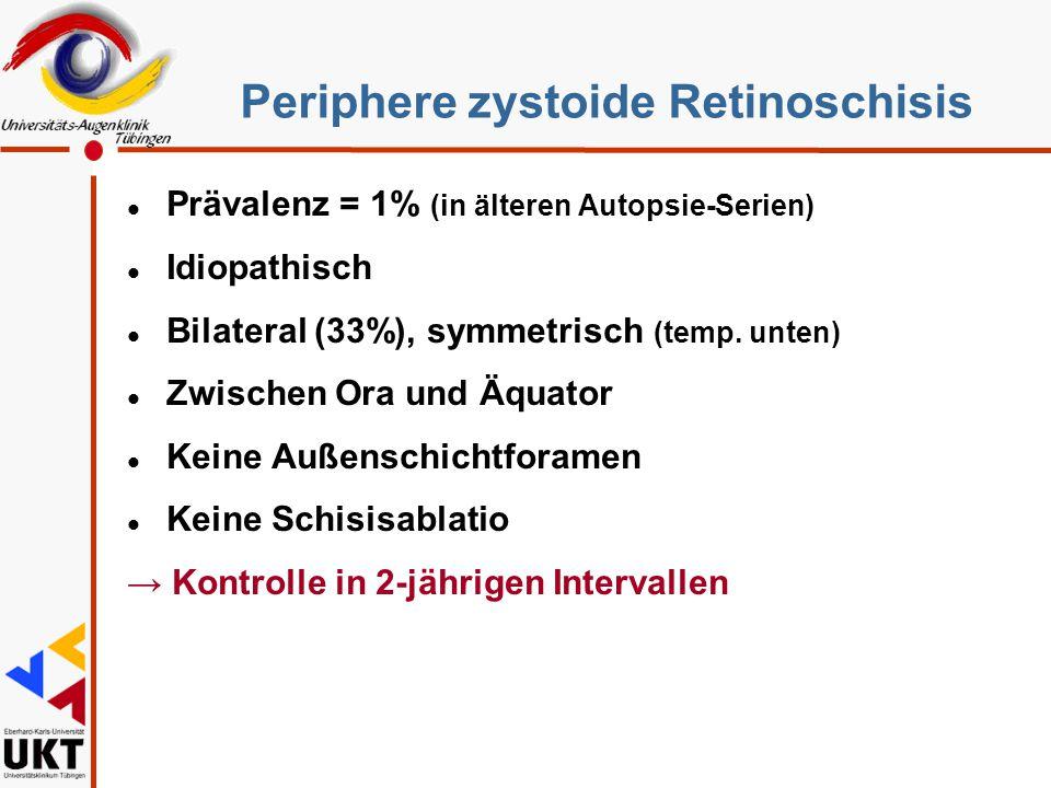 Periphere zystoide Retinoschisis