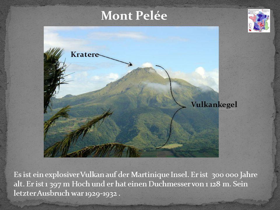Mont Pelée Kratere Vulkankegel