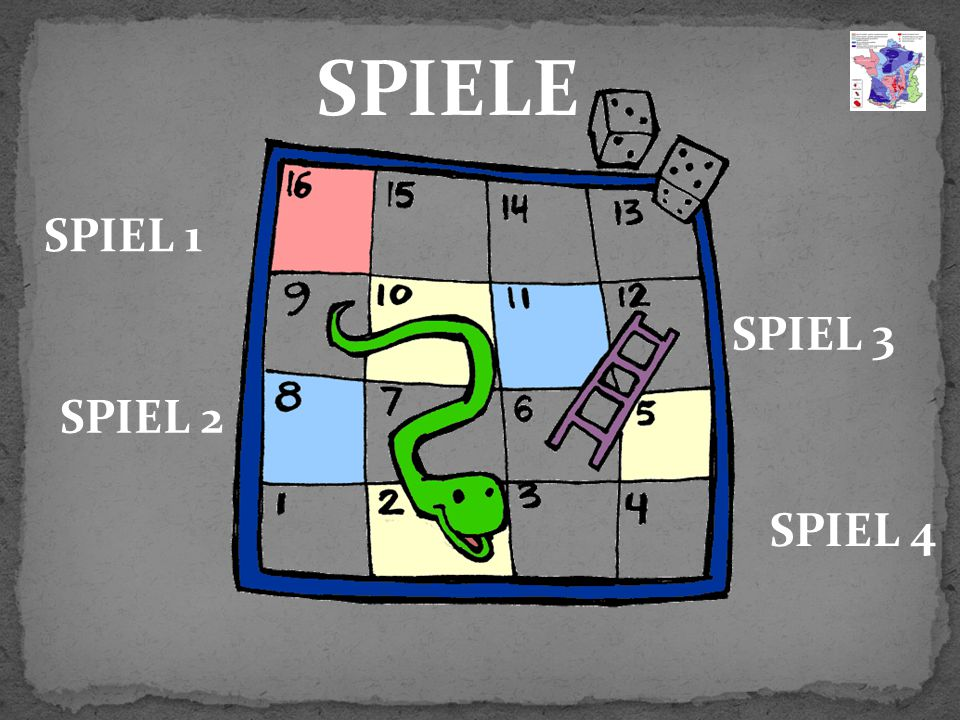 SPIELE SPIEL 1 SPIEL 3 SPIEL 2 SPIEL 4