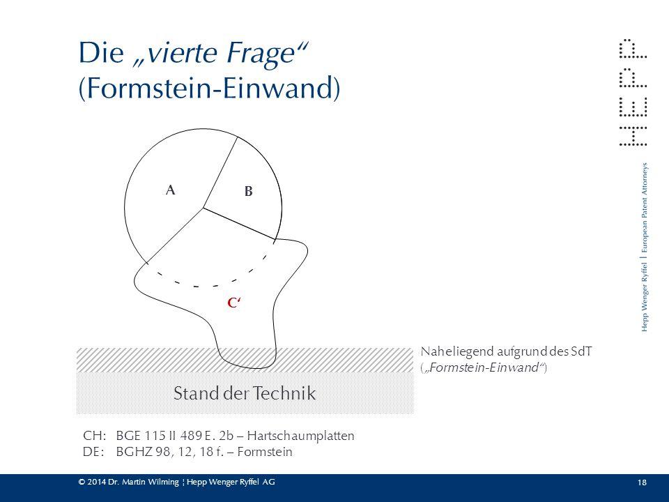 """Die """"vierte Frage (Formstein-Einwand)"""