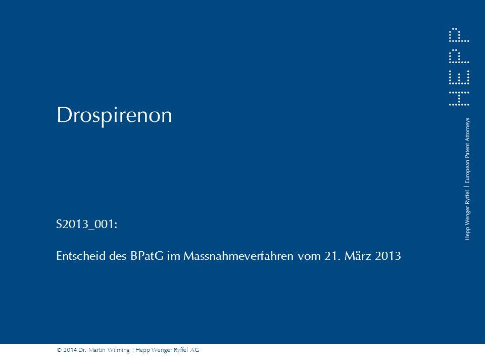 S2013_001: Entscheid des BPatG im Massnahmeverfahren vom 21. März 2013