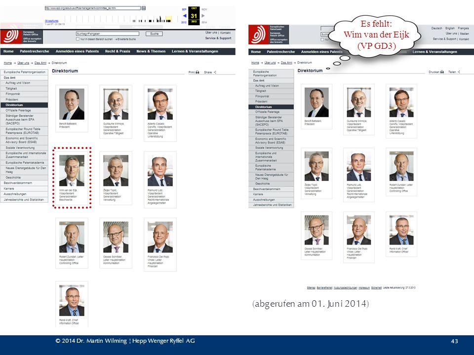 Es fehlt: Wim van der Eijk (VP GD3) (abgerufen am 01. Juni 2014)