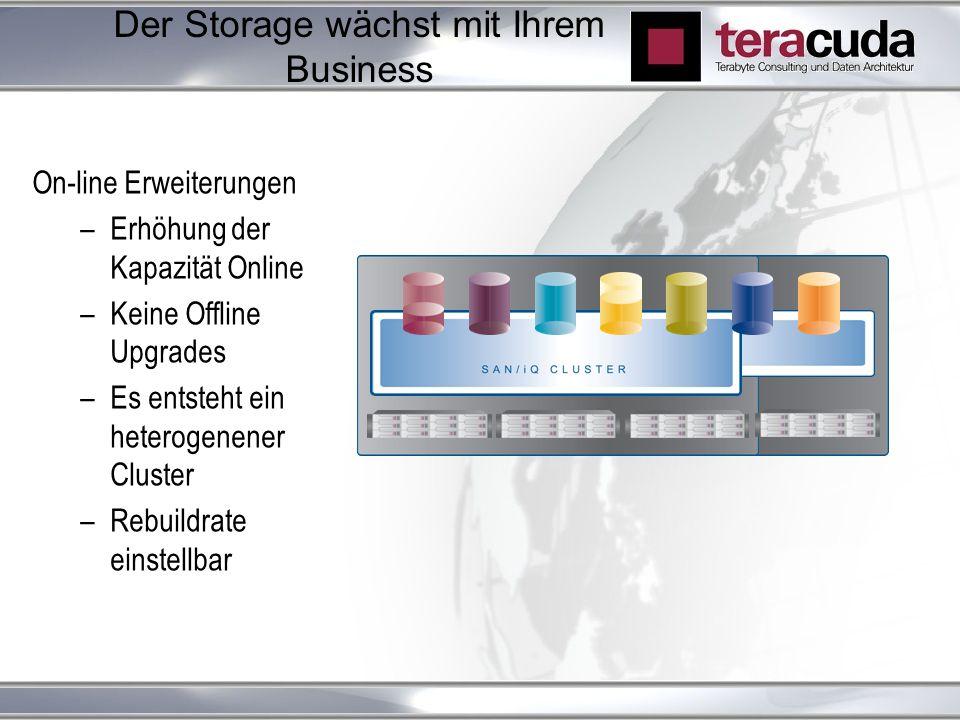 Der Storage wächst mit Ihrem Business