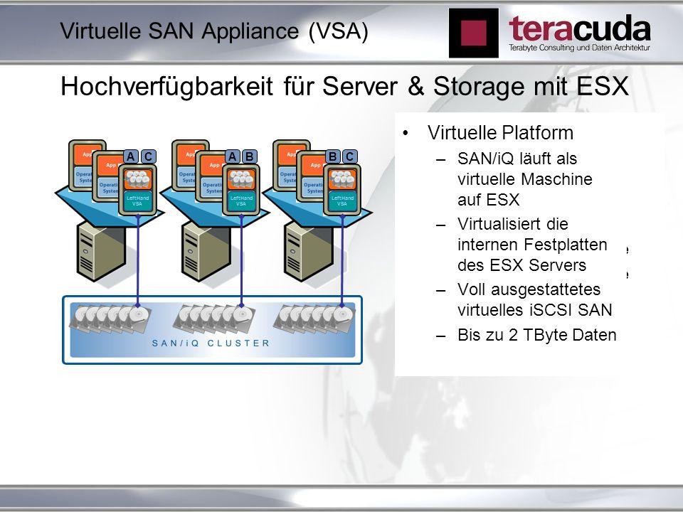 Hochverfügbarkeit für Server & Storage mit ESX