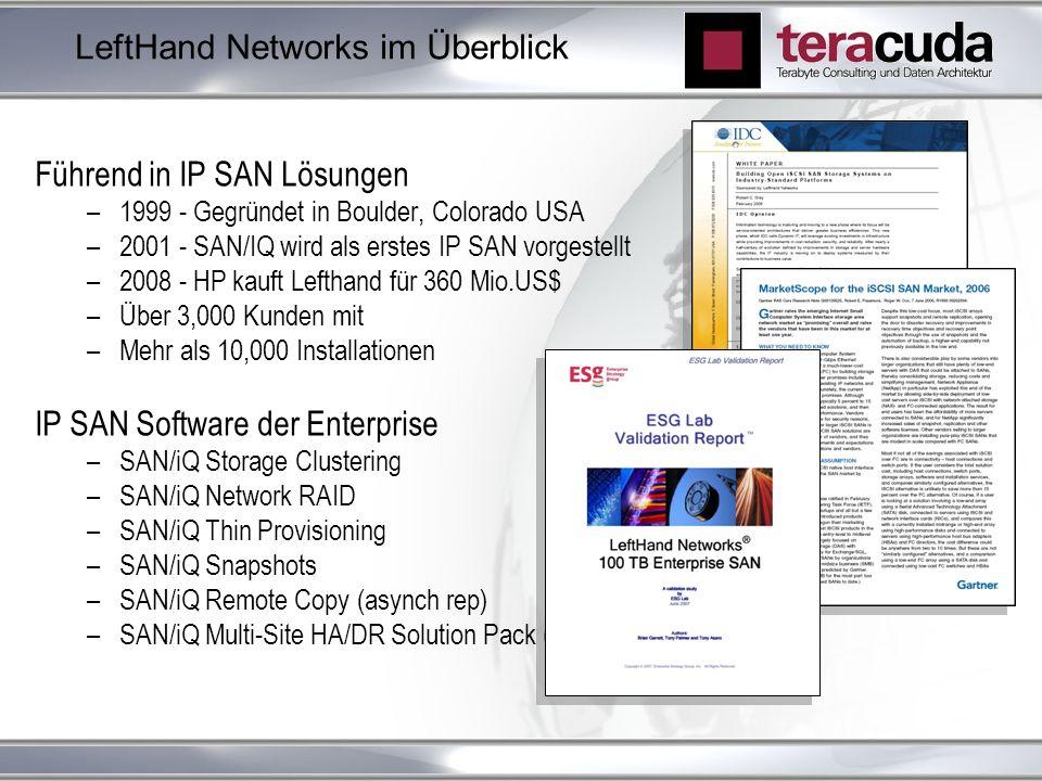 LeftHand Networks im Überblick