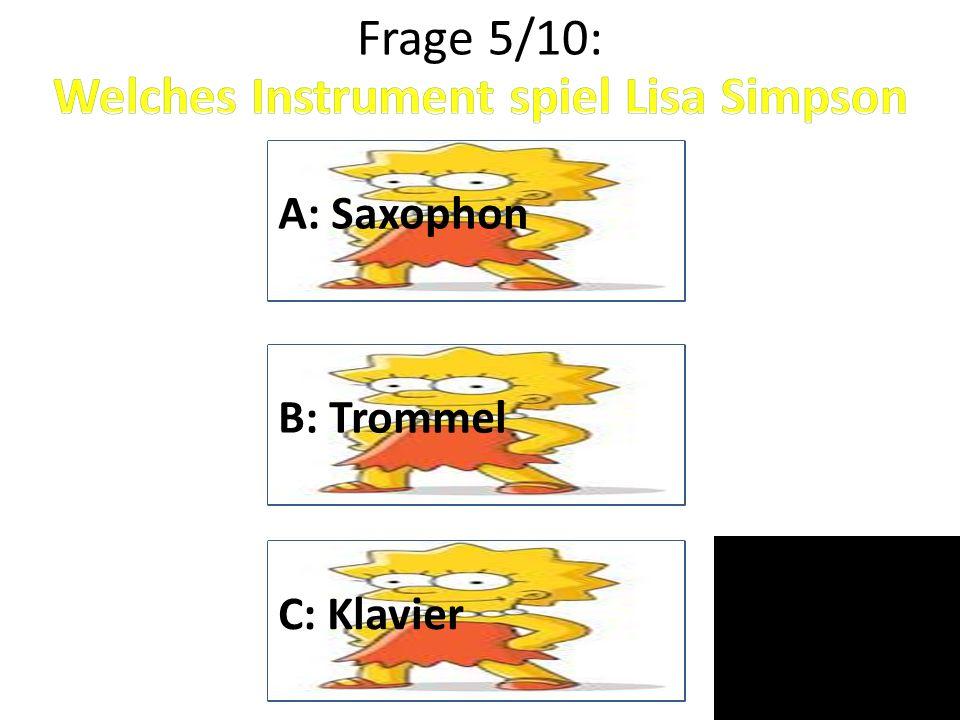 Welches Instrument spiel Lisa Simpson