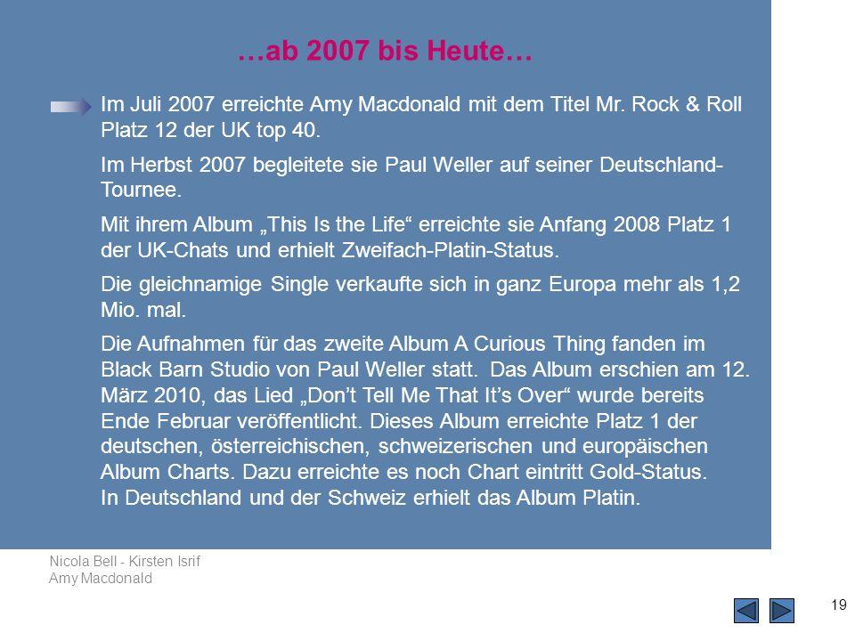 …ab 2007 bis Heute…