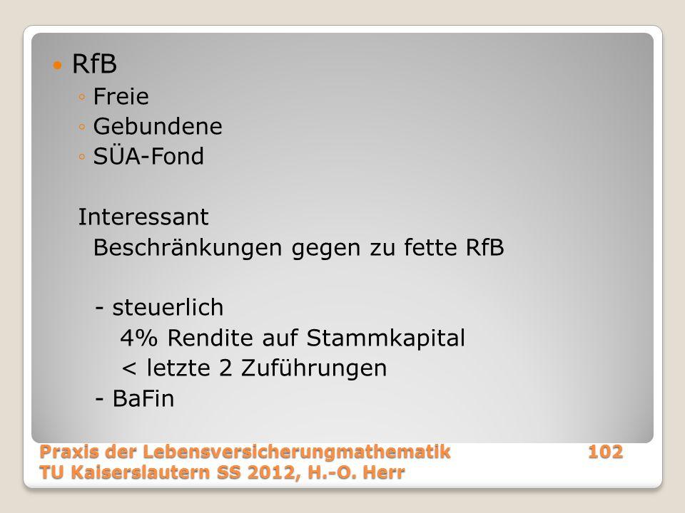 RfB Freie Gebundene SÜA-Fond Interessant