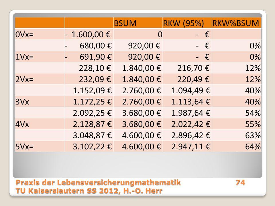 BSUM RKW (95%) RKW%BSUM 0Vx= - 1.600,00 € - € - 680,00 € 920,00 € 0%